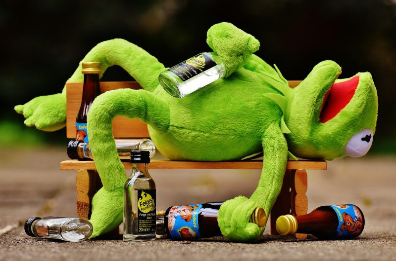 Drunk Kermit: cut out alcohol for a weight loss boost